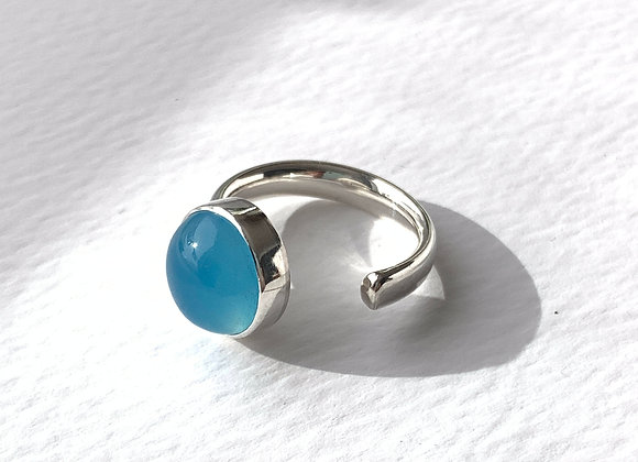 Open Shank Chlcedony Ring