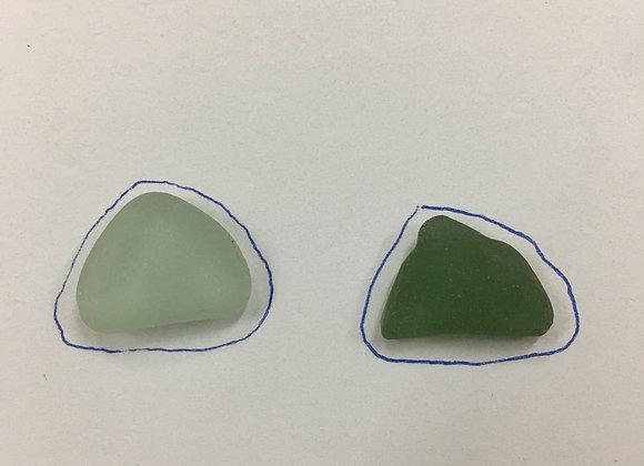 Sea glass cufflinks