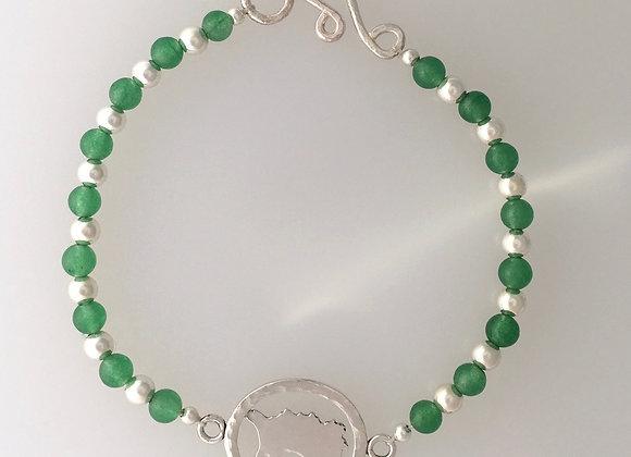 Love Jersey 1/1 bead bracelet: aventurine