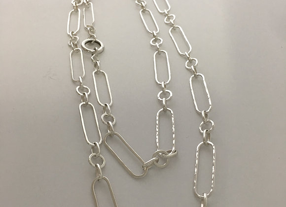 "Loop & O handmade chain,  38"" with Continuous Ring Clasp"