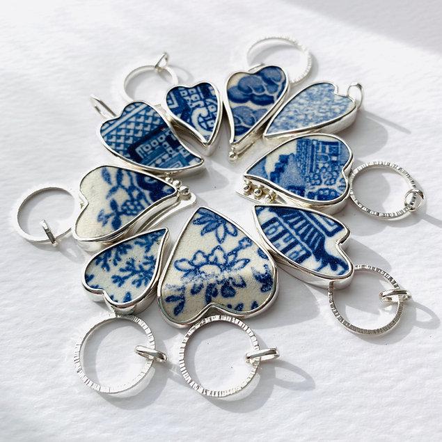 Pottery Shard Silver  Pendants www.aida.je