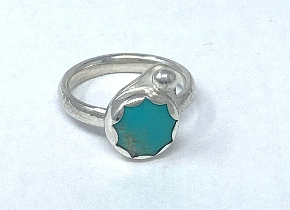 Turquoise and Bead ring