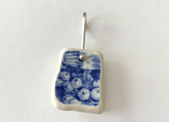 Raw Blue Shard Pendant with fruits