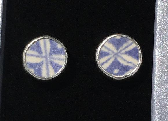Beach Tile stud earrings with crosses