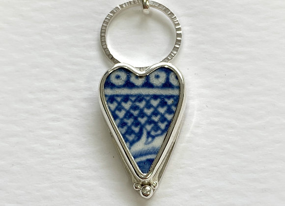Willow pattern edge pendant