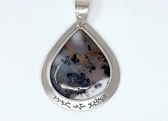 Dendritic Opal Pendant with Pierced back