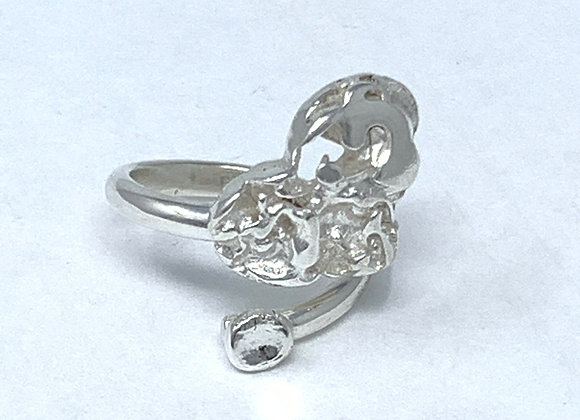 Molten Heart Silver Ring