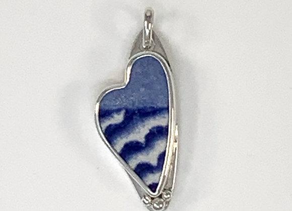 Landscape pottery shard Silver pendant