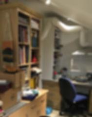 Aida's first studio in the lean-to   Aida de la Herran Jewellery