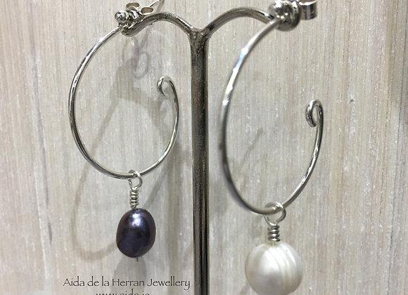 Loopy Loop Earrings with 2 pairs of pearl dangles