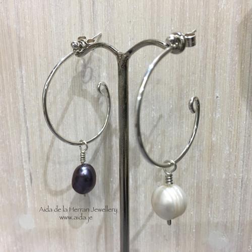b084d7d6ffacf8 Loopy Loop Earrings with 2 pairs of pearl dangles