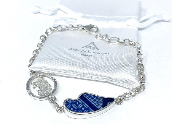 Love Jersey Bracelet with Heart pottery shard