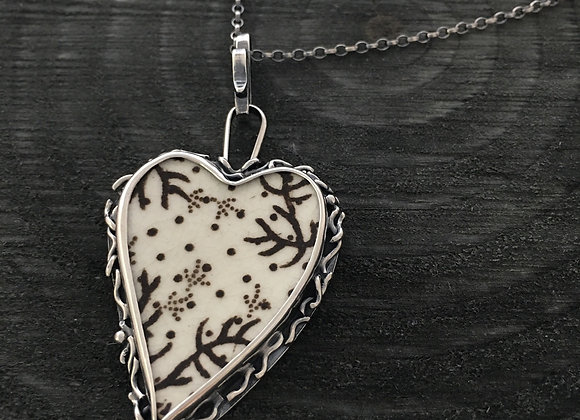 Twigs Heart Silver Pendant