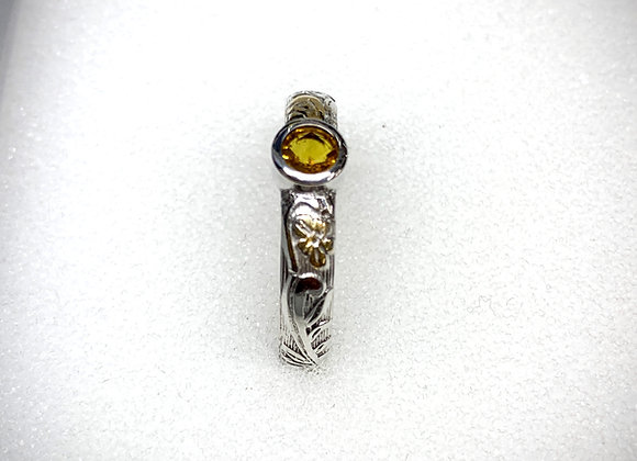 Orange Sapphire and Keum Boo ring
