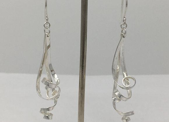 Ribbon Earrings, 3 strands