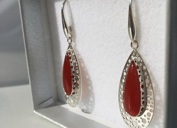 Carnelian Starlight Drop Earrings