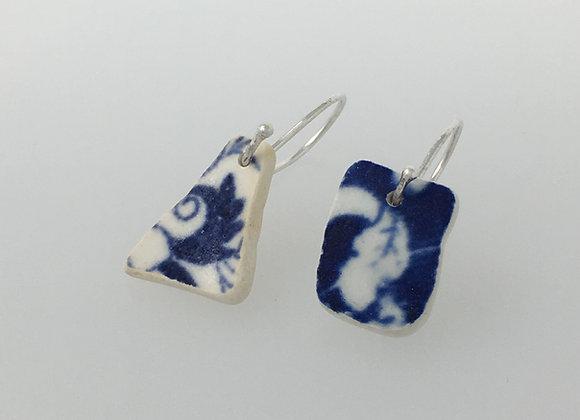 Raw earrings Leaf and Scroll