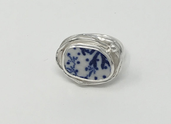 Jersey Pottery Shard in nest ring