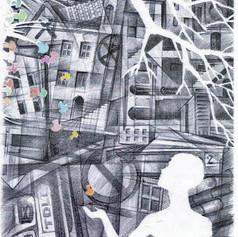 Illustrazione per Marcovaldo di Italo Calvino