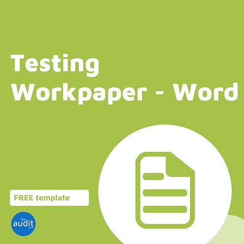 C4 - Testing Workpaper - Word