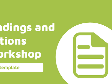 Reporting - Findings and Actions Workshop Template