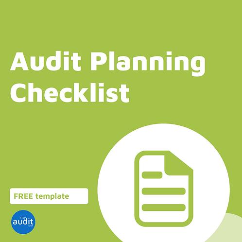 A1 - Planning Checklist