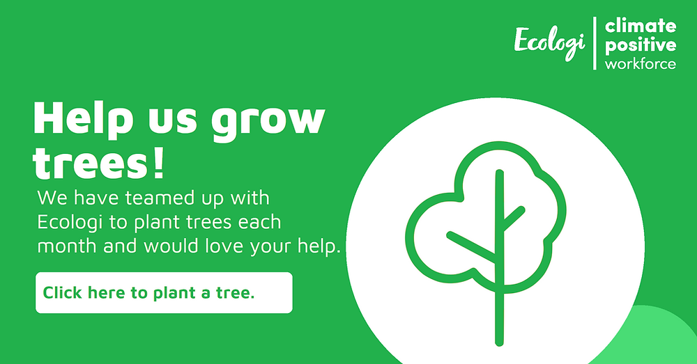 We are committed to the environment. Help us grow our forest and plant a tree by clicking on this link and making a donation.