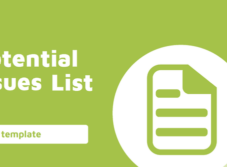 Reporting - Potential Issues List Workpaper Template