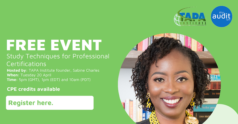 Free Internal Audit Webinar Event focusing on Study Techniques for Professional Certifications