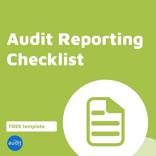 A3 - Reporting Checklist