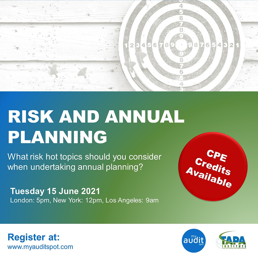 Risk and Annual Planning