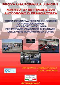 15 /09/2011 - Una nuova giornata di test per fare conoscere la Formula Junior