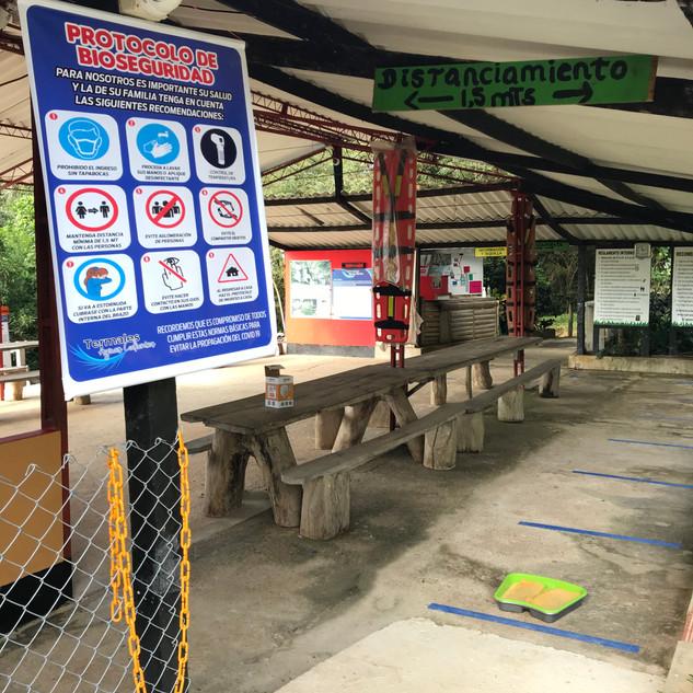 Proceso de ingreso de visitantes a las instalaciones de la reserva natural