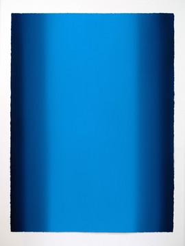Depths, Blue 9, 2020, Oil on paper, 30 x