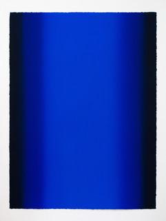Depths, Blue 12, 2020, Oil on paper, 30