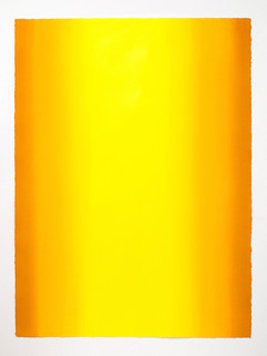 Depths, Yellow 6, 2020, Oil on paper, 30