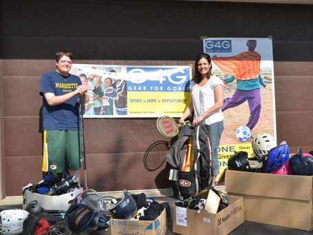 Gear donated by St. Norberts to help Gear for Goals