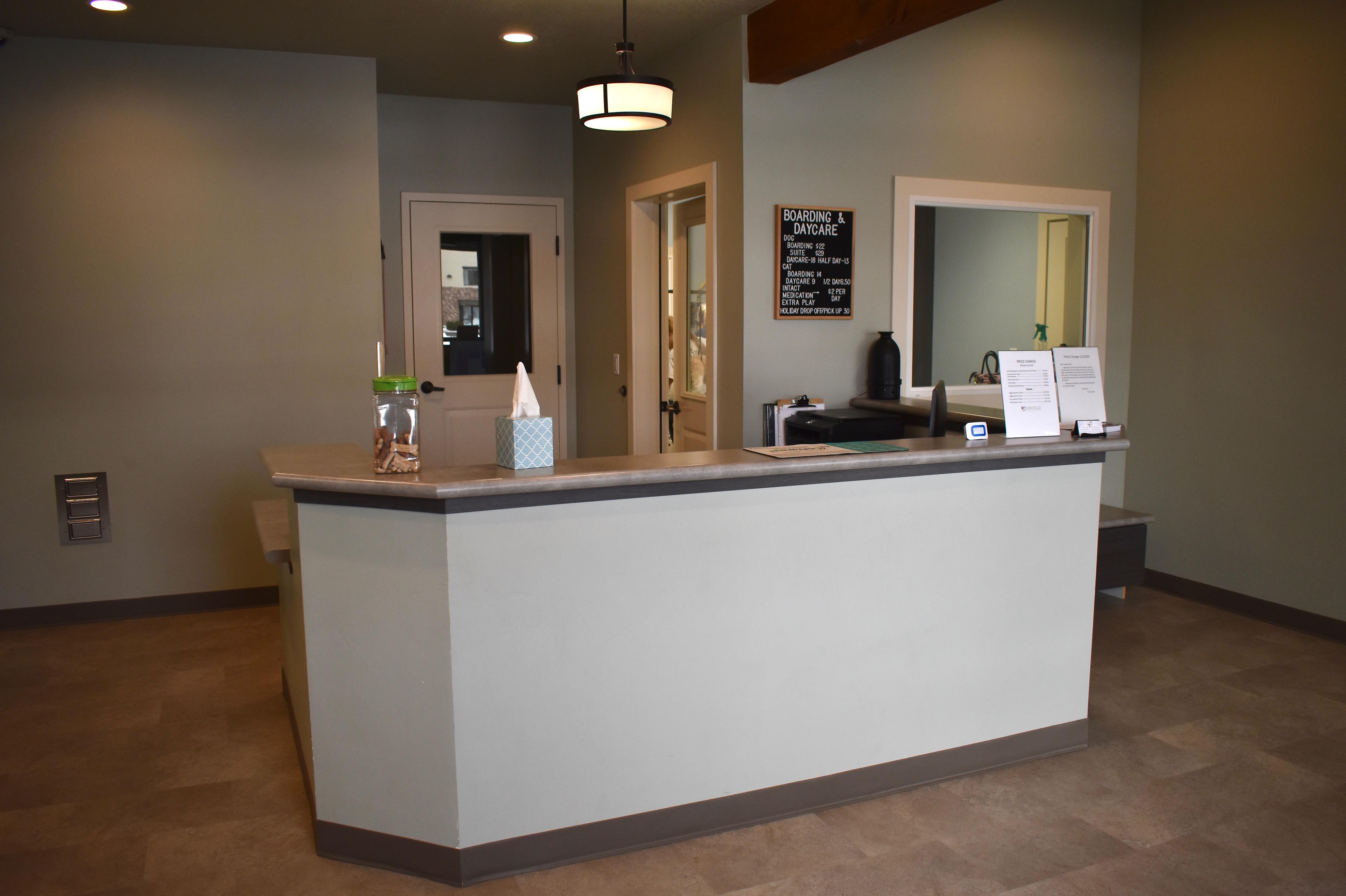 Boarding Reception Desk