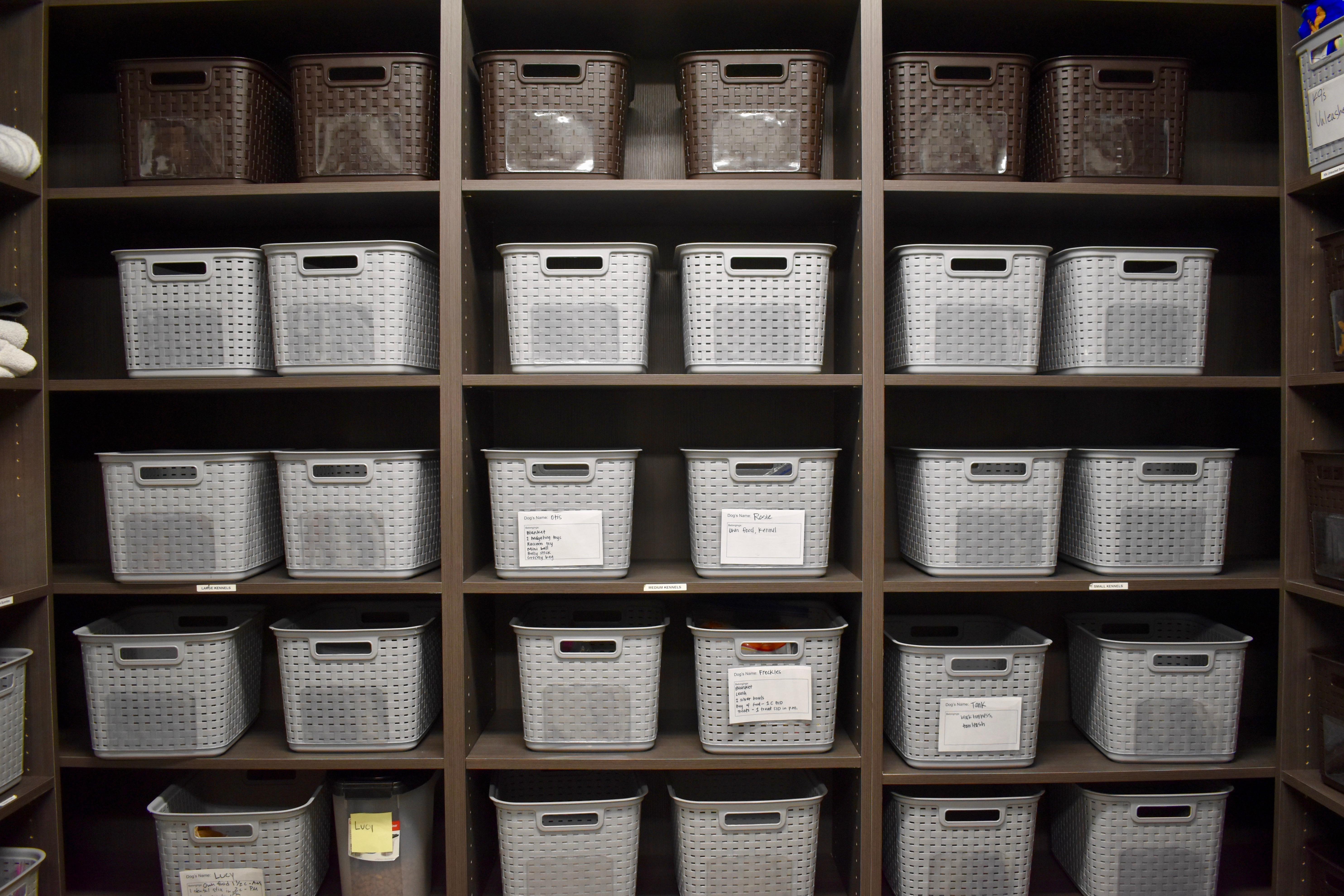 Individual pet belonging storage