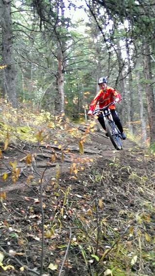 Riding some secret trails in Calgary