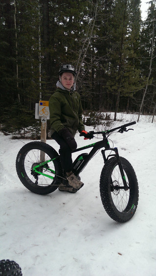 A few great days fat tire biking & snowboarding