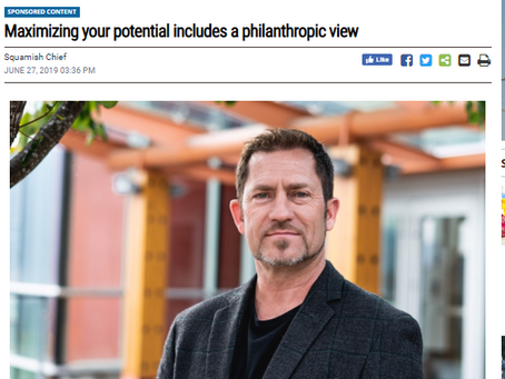 Maximizing your potential includes a philanthropic view