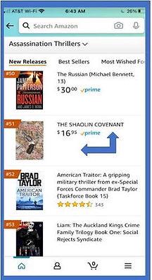 The Shaolin Covenant Harris L. Kligman Novel Amazon Top 30