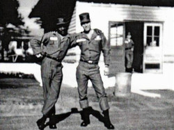 Harris L. Kligman & his executive officer while stationed at Fort Jackson, South Carolina in 1959/60