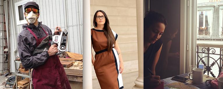 Oxtail Studio cofounders Kingston Lim, Jessie Zechnowitz, and Serena Lim.