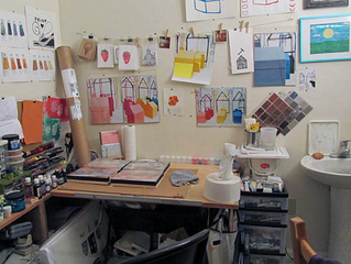 Dawline Jane Oni-Eseleh's studio at Oxtail