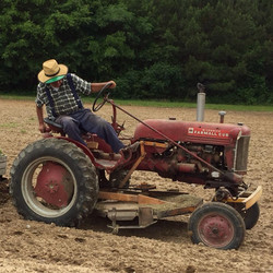 Donald on Tractor
