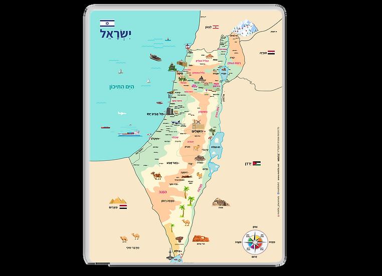 פלייסמט מפת ארץ ישראל