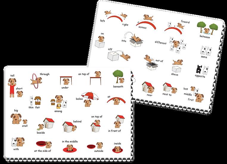לימוד מילות ייחוס באנגלית - זוג פלייסמטים