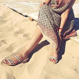 sandales les paresseuses modèle 08 platine